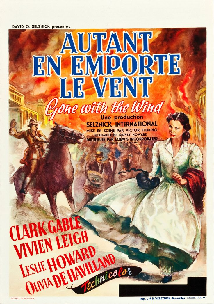 Gone with the Wind (MGM, 1939). Pre-War Belgian