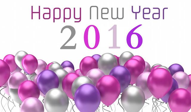 Happy New Year 2016 Colourful Wishes