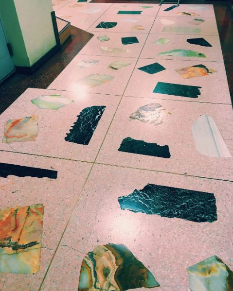 Pink Terrazzo flooring