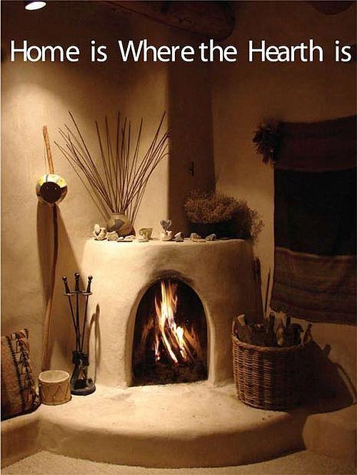 The 25 best adobe fireplace ideas on pinterest santa fe for Kiva style fireplace