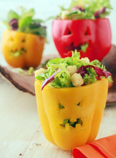 Halloween, Snack, für Kinder, Paprika