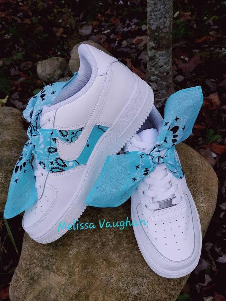 Custom Bandana Baby Nike Air Force 1   Etsy in 2021   Nike shoes ...