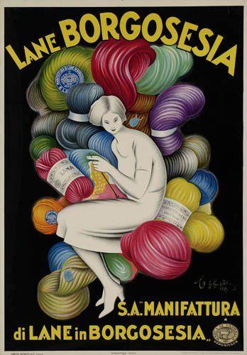 Vintage Italian Posters ~ #Italian #vintage #posters ~ bleistift-und-radiergummi:    Leonetto Cappiello 'Lane Borgosesia' 1940's