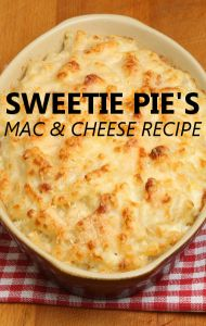 The Montgomery Family of Sweetie Pie's Restaurant joined Dr Oz to share their favorite soul food recipes, including one for Mac and Cheese!