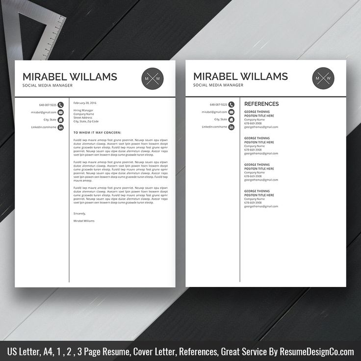 Clean Resume Template MS Word, Simple Curriculum Vitae