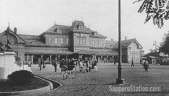 Sapporo Station in Taisho era (1912-1926)