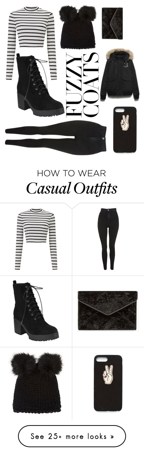 """""""Casual Winter Outfit"""" by emileyheart on Polyvore featuring Miss Selfridge, Topshop, Barneys New York, Nasty Gal and Rebecca Minkoff"""