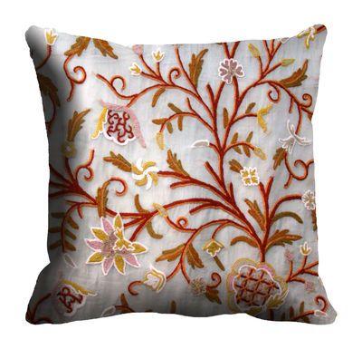 Me Sleep Chain Stitch Cushion Cover Cdek 10 Cream Cushion Covers on Shimply.com