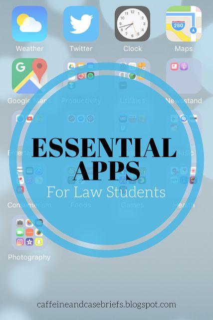 Essential Apps For Law Students | Caffeine and Case Briefs