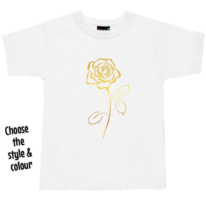 Gold Rose T Shirt or Hoodie