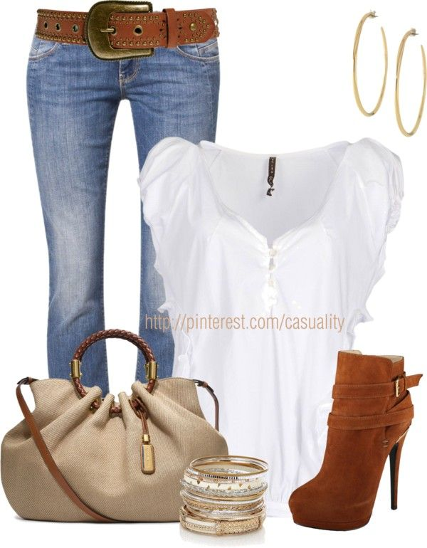 """""""Michael Kors Bag & Denim"""" by casuality on Polyvore"""