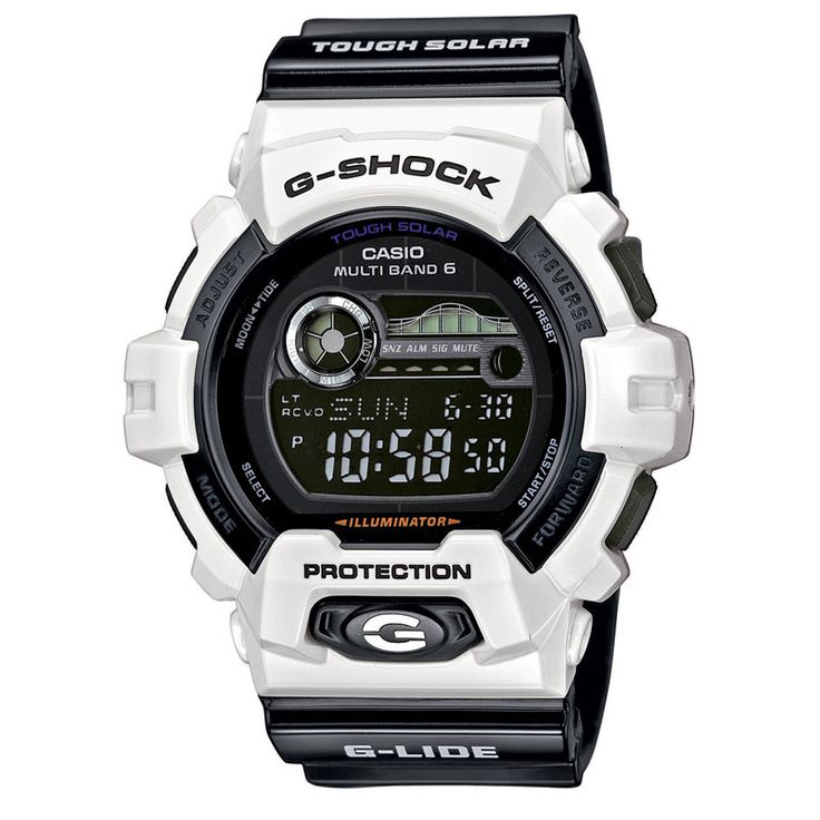 Zwart Witte Gshock !! Casio G-Shock G-Lide GWX-8900B-7ER Tough Solar Horloge (beste prijs + gratis verzending)