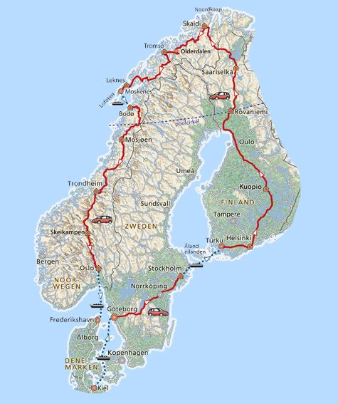 Deze veelzijdige rondreis zit vol bijzondere aspecten van Noorwegen, Zwedenen Finland.Je rijdt langs prachtige meren en door diepe bossen alvorensje het uitgestrekte Lapland bereikt.