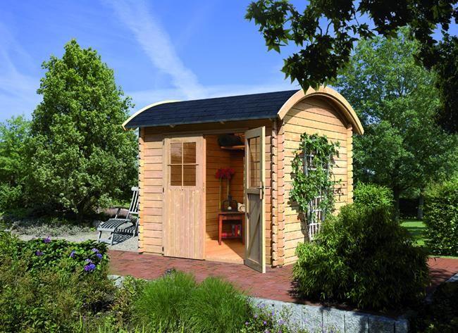 abri de jardin en bois massif 28mm 338m toit en berceau 1 karibu