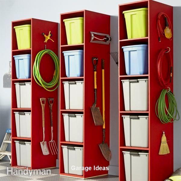 Garage Storage Hacks Clear Storage Bins Storage Towers Garage Storage