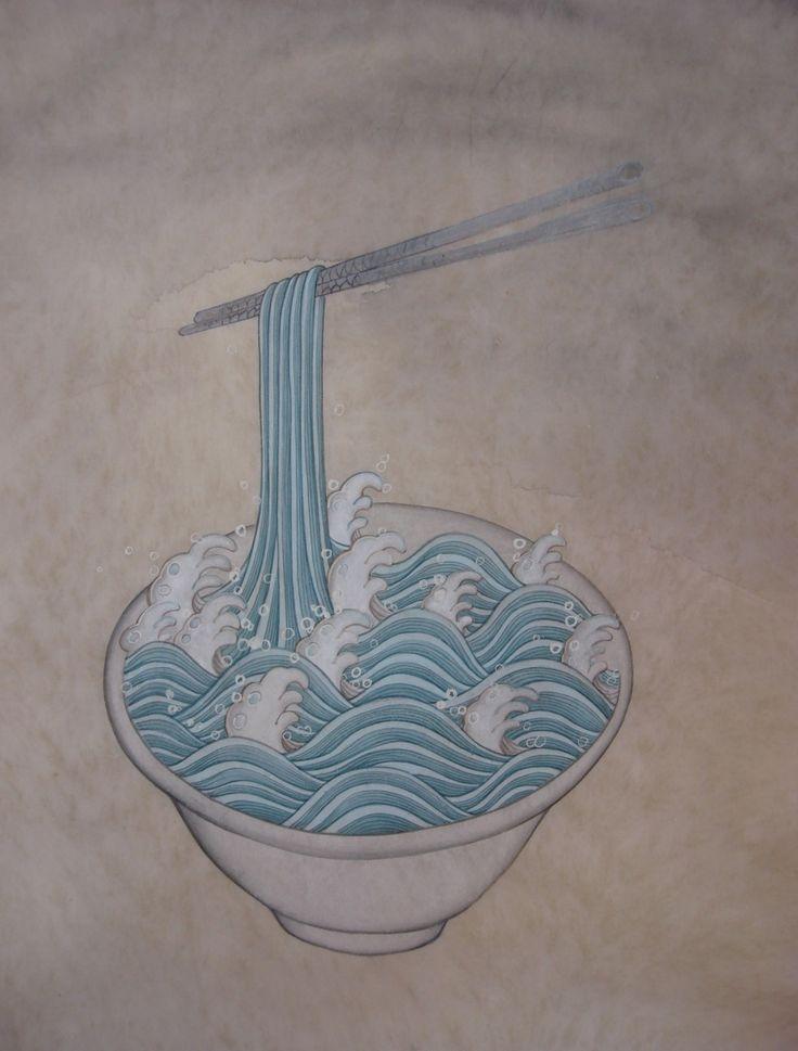 Traditional Korean Minhwa (folk painting) illustrations by Seongmin Ahn