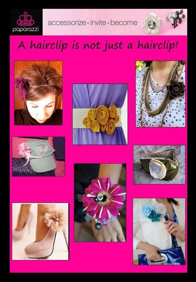 So many ways to wear a hair bow! Make Extra Money! I love Paparazzi Join/Shop Today Jen Gear Paparazzi Manager Since 2011 www.PaparazziAccessories.com/2712