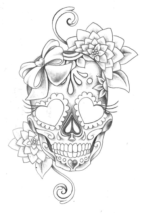 25 unique sugar skull tattoos ideas on pinterest skull tattoos thigh tattoos and shoulder. Black Bedroom Furniture Sets. Home Design Ideas