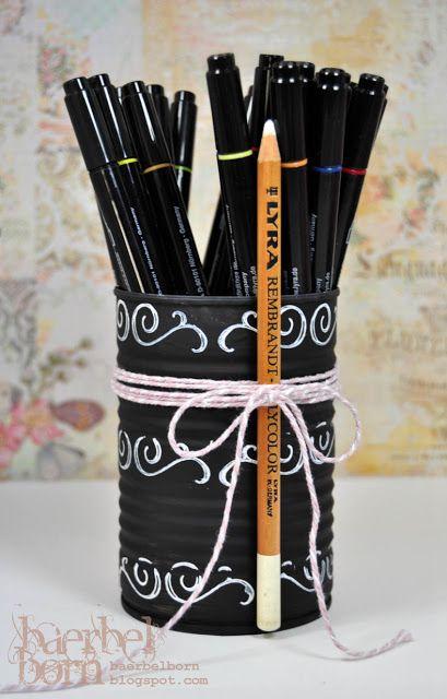 chalkboard stamping – Stempeln mit Kreideeffekt | Selbermachenguru
