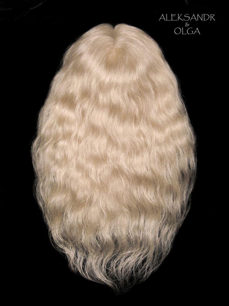 ПОЛУПАРИК combo (с имитацией кожи головы) - постиж, светлый блонд (из натуральных волос) www.aleksandr-and-olga.ru www.livemaster.ru/hair-collection