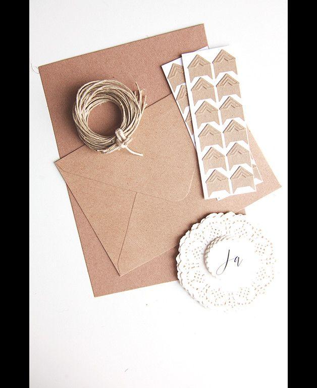 Do it yourself Kit - Vintage Hochzeit Kraftpapier