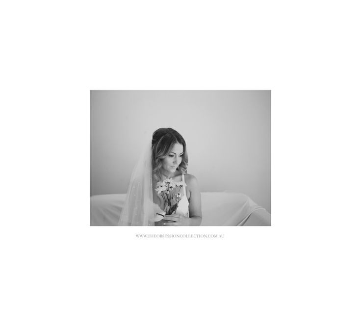 Boudoir, black and white. Bridal shoot by The Obsession Collection