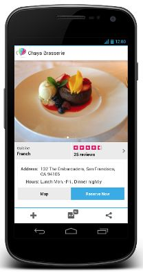 Custom restaurant app