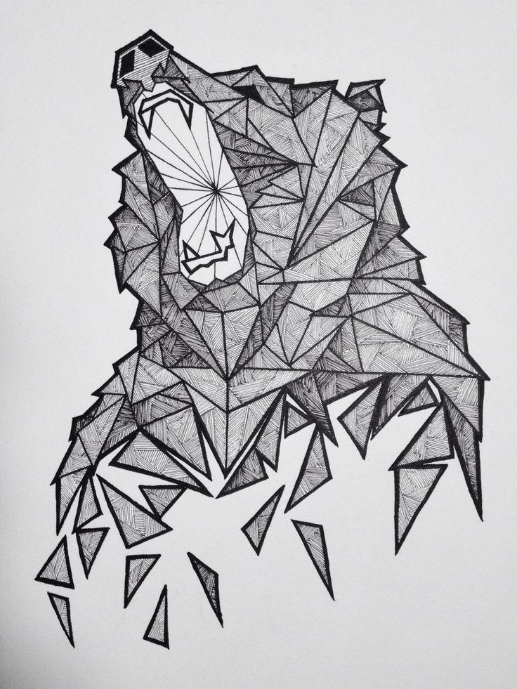Geometric Bear Sketch