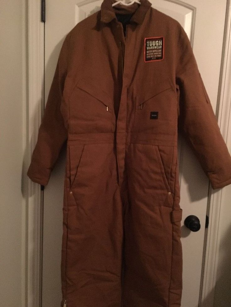 Walls Workwear Mens Lined Coveralls Sz M Brownish Clothes NWOT Jumpsuit 1 Pc #Walls