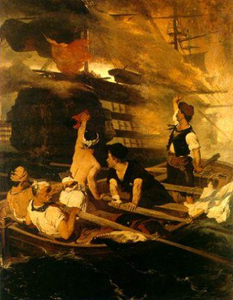 Λύτρας Νικηφόρος, Η Πυρπόληση της Τουρκικής Ναυαρχίδας από τον Κανάρη, 1872