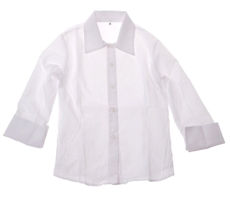 ΑΖ πουκάμισο παρέλασης για κορίτσια με γυριστή μανσέτα  €14,90