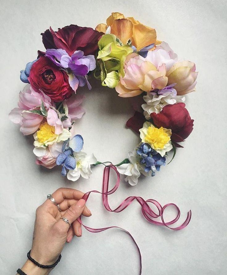 Flower crown by Lady Larissa. Canberra wedding florist. Wedding flowers.