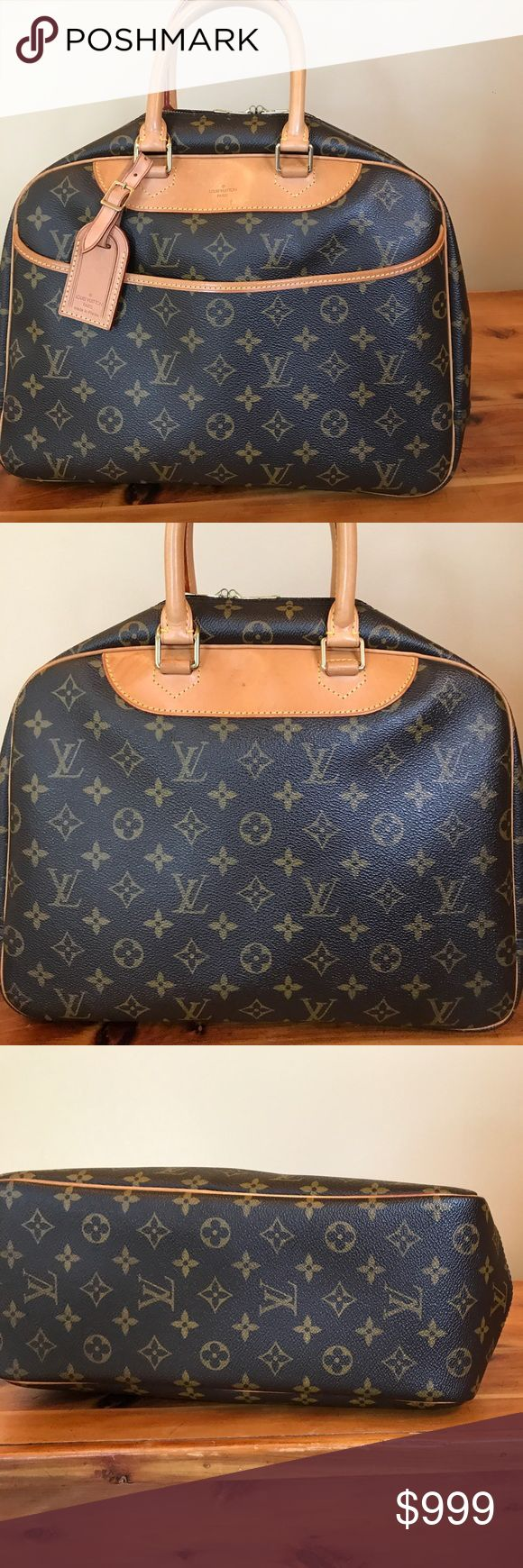 Louis Vuitton Deauville Bag 🌺💖1 Hour only!! Preowned Louis Vuitton Deauville Bag excellent condition clean inside and out nice patina on leather, handles in excellent condition!! Comes with dustbag, lock 🔐 key!!🌺💖 would consider trade for the right bag 😍 bag was verified authentic by Authenticate First!! Louis Vuitton Bags Satchels