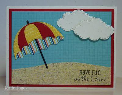 Crafting with Katie: Beach Umbrella Card