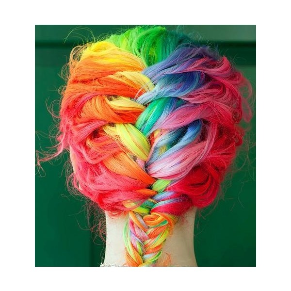 Colorful Hairstyles clinker truffles Multi Colored Ombre Hair Claireverity Found On Polyvore