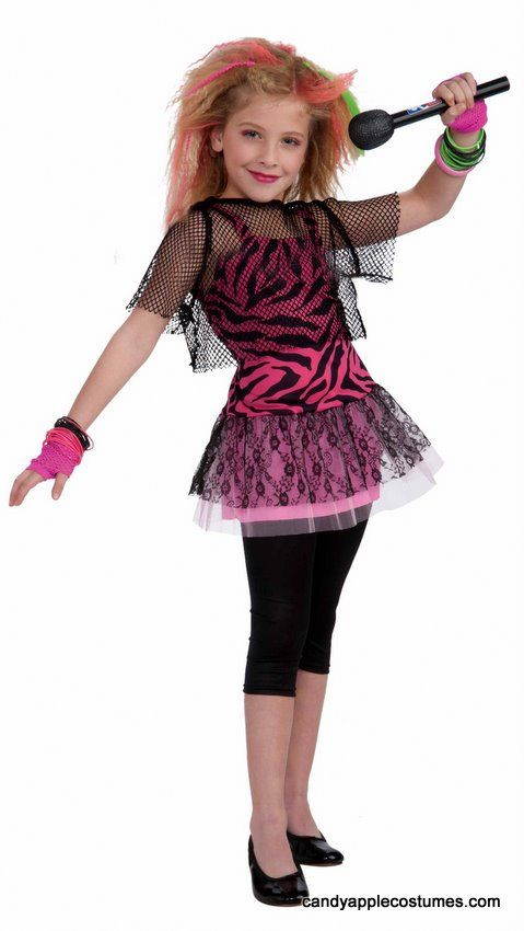 idea for alaina!...Child's 80's Rock Star Girl Costume - Candy Apple Costumes - Kids' Costumes Under $30