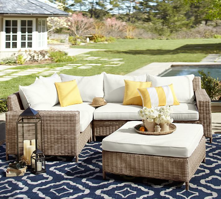 Enjoy patio time year round with all weather wicker!