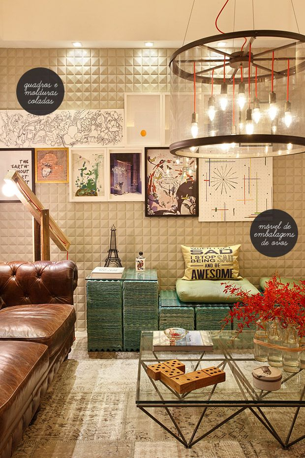 Eclectic interior, love.