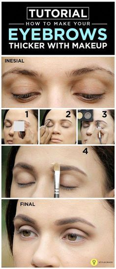 Tutorial: How To Make Your #Eyebrows Thicker With #Makeup ...