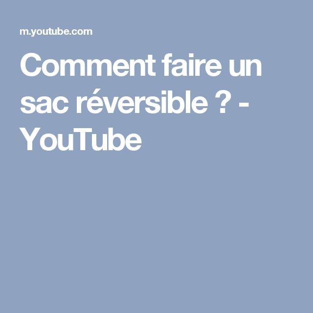 Comment faire un sac réversible ? - YouTube