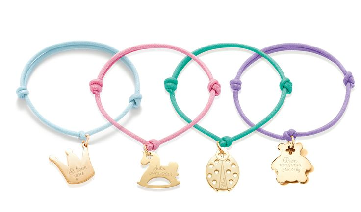 Sweets pendants for kids: the crown, the rocking-horse, the ladybug, the teddy and many more! from 14£ #lilou #bracelet #silver #goldplated #present #kid