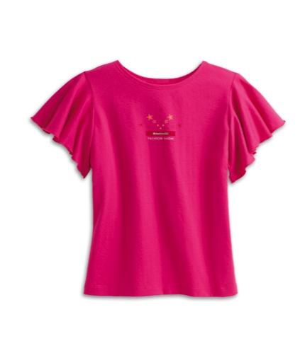 Girls matching flutter shirt  $20
