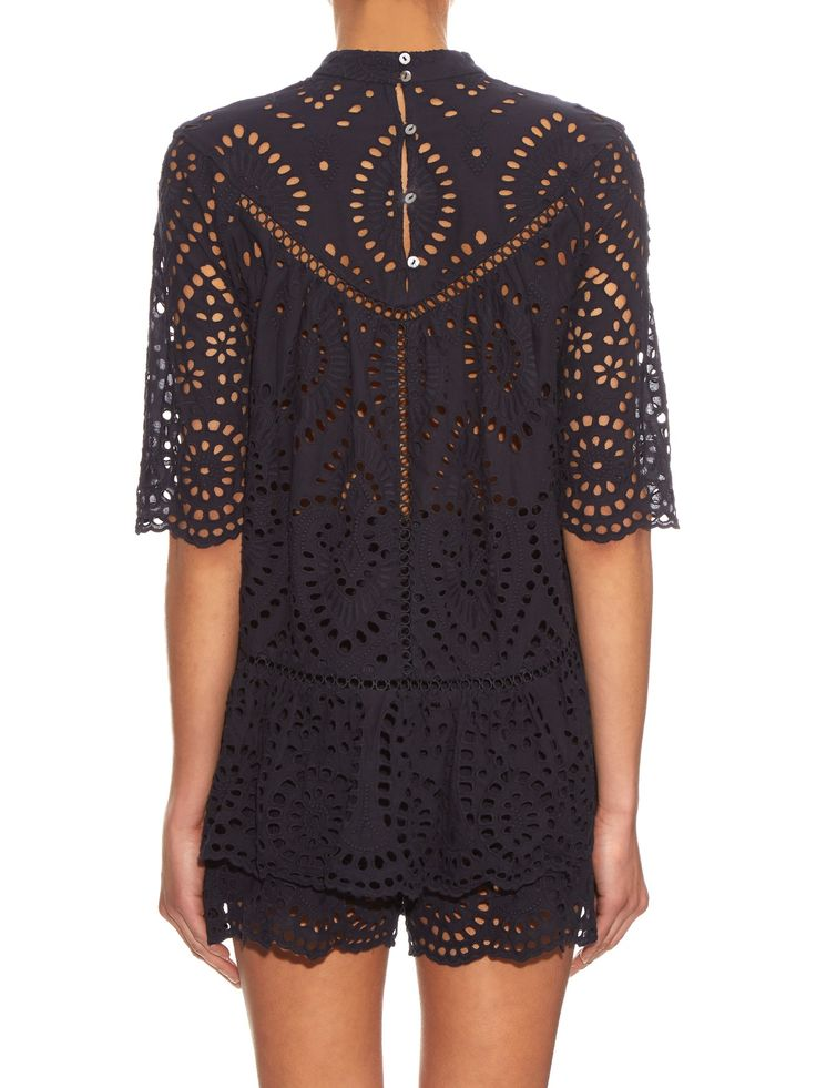 Harlequin broderie-anglaise top | Zimmermann | MATCHESFASHION.COM