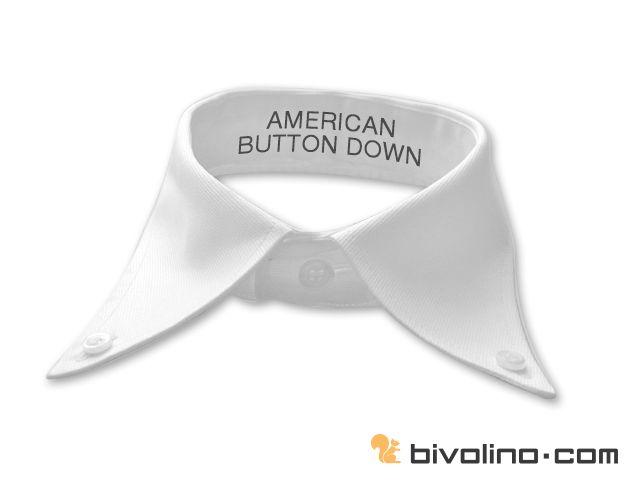 American button down boord. De amarican button down boord of kraag is een variant van de button down kraag maar iets ruimer en hoger, geïnspireerd op het 'grote' Amerika. Hij is zo opgezet dat hij een aangenaam en vrijetijds draagcomfort garandeert . John Brooks lanceerde begin vorige eeuw de american button down kraag welk nu de basis vormt van de week-end collectie van de shirt lover. De American button down boord wordt meestal gedragen zonder das, maar kan zeker op