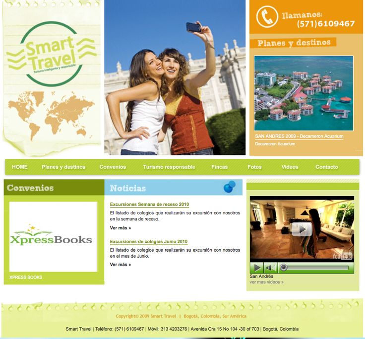 Sitio web para SMART TRAVEL - Año ©2007