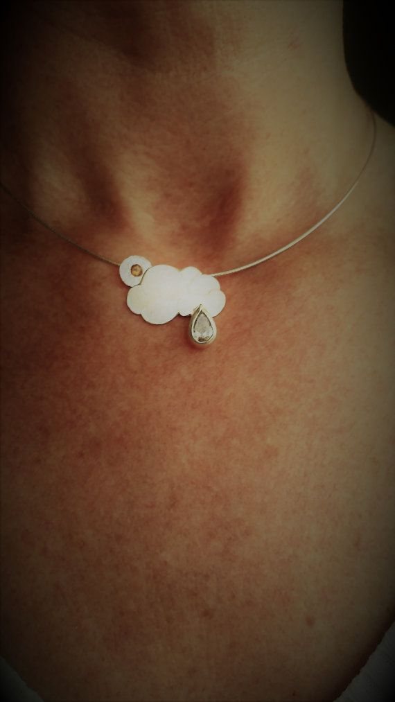 Sun and Raincloud Necklace by LeahLowney on Etsy