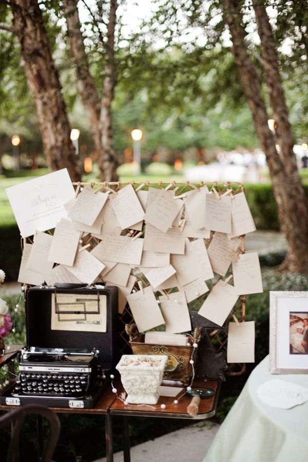 Notes To Bride And Groom From Their Wedding Guests Typed On A Royal Portable Typewriter Guestbook IdeasWedding