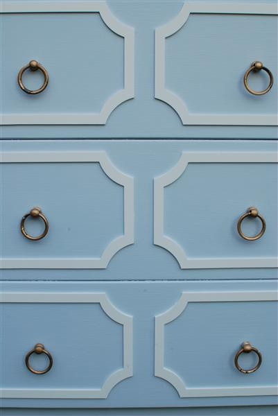 O'verlays are lightweight, decorative fretwork panels. They are paintable and easily attach to furniture, mirrors, walls and glass. Want for dressers and maybe kitchen cabinets!