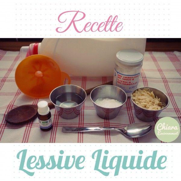 La lessive liquide #homemade en recette