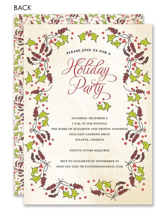 40 best images about Holiday Potluck – Potluck Christmas Party Invitations